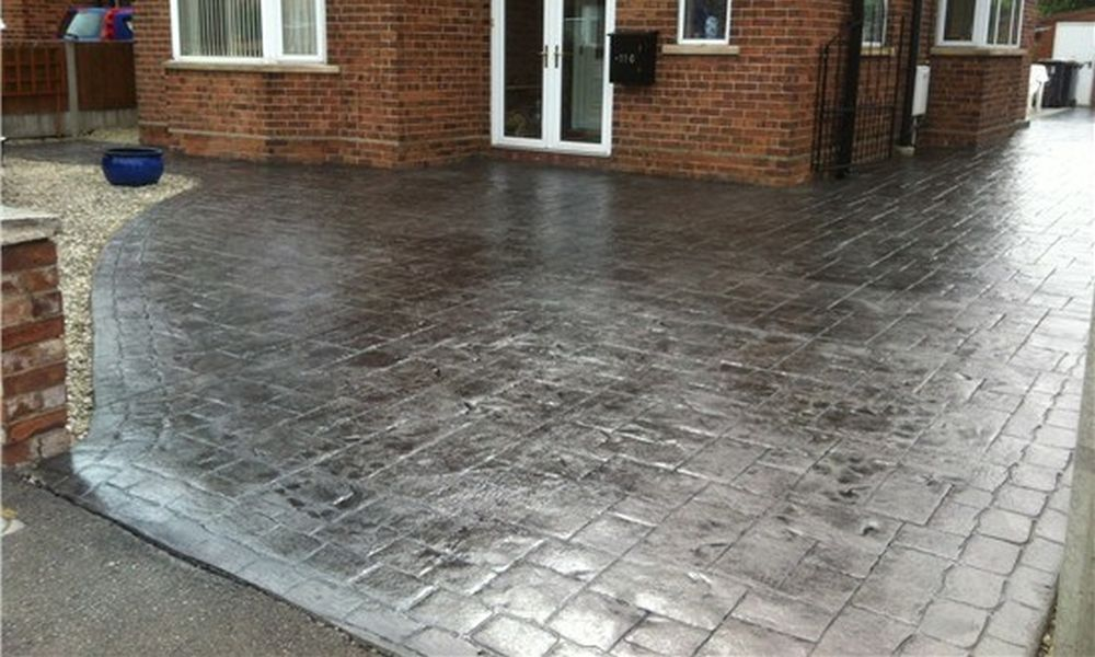pattern imprinted concrete driveways in county-durham